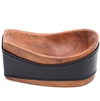 Tobacco Pipe Stand - Authentic Full Grade Buffalo Hide Leather - Black
