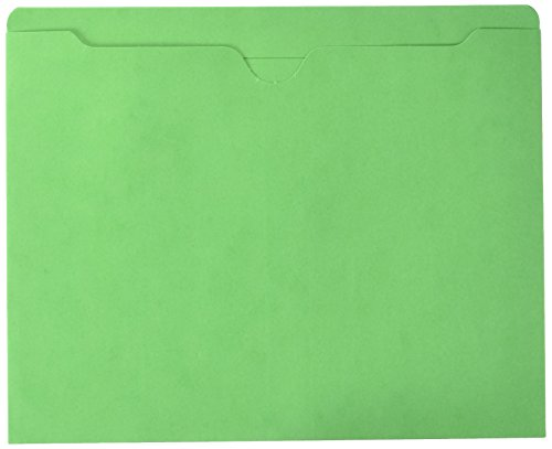 Sparco File Jacket, Letter, 11 Point, Flat, 50 Capacity, 100 per Box, Green (SPR26559)