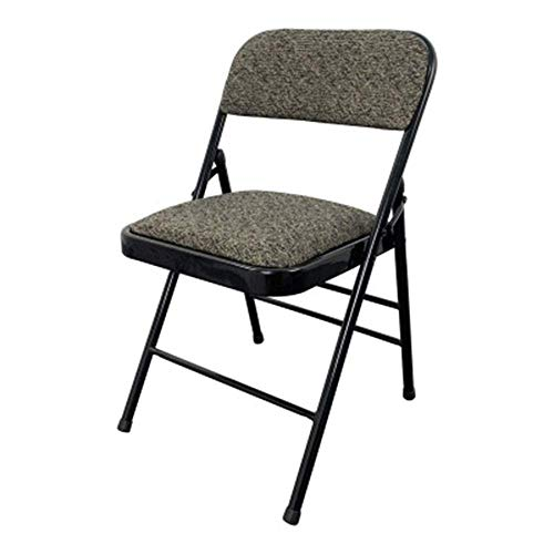 WZLJW Gepolsterte Stoff Stahl frameFolding Stuhl leichtes Krafttraining Klappstuhl Bürocomputer Rückenlehne Stuhl Moderner Stil Design Dedrooms Event Dorfhallen ggsm