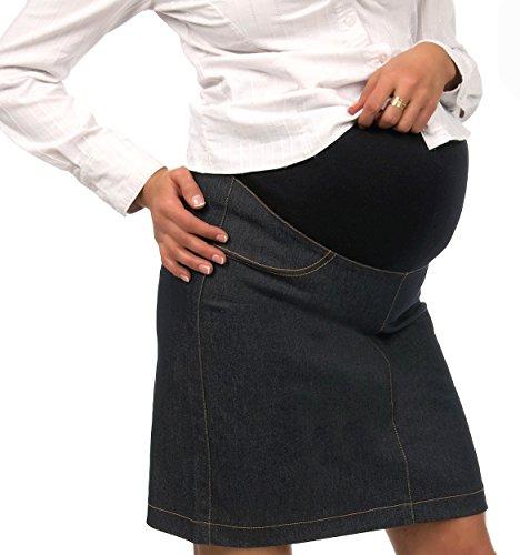 Umstandsrock Jeans Rock Damen Umstandsmode Midi Skirt/Jeansblau S (34-36)