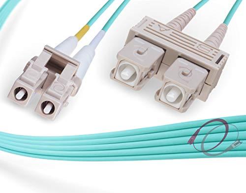 FiberCablesDirect - 15M OM4 LC SC Fiber Patch Cable   100Gb Duplex...