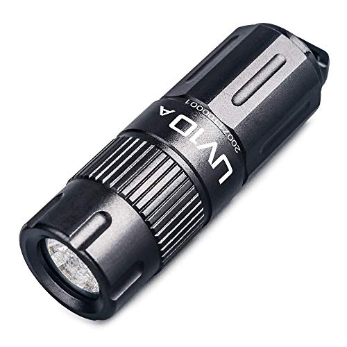 GING UV FLASHLIGHT 395 nm flash LED de alta potencia recargable por USB mini llavero UV torch para glue, lámpara, orina de mascotas, counterfeit Money, resina (UV10-395 nm)