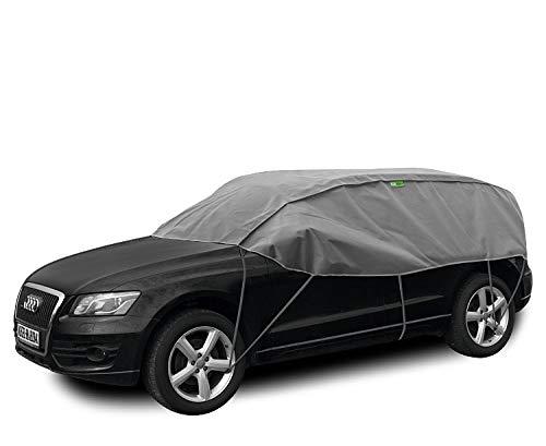 Abdeckplane Halbgarage Sonneschutz, Schneeschutz, UV Schutz, Winter & Sommer Größe SUV kompatibel mit Nissan Qashqai I