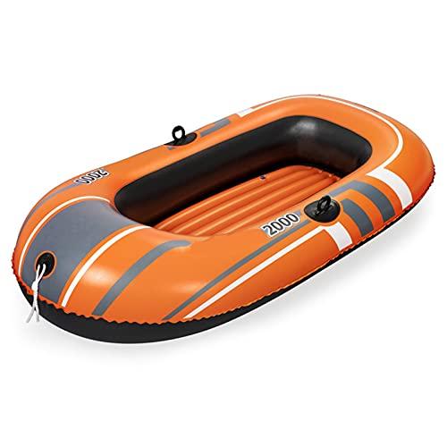 HOUADDY Bote Inflable con Bolsas de Aire múltiples, Canoa de Pesca Flotante Plegable Resistente al Desgaste, Deportes acuáticos al Aire Libre