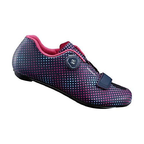 SHIMANO Women's RP501W Performance Cycling Shoe (Navy Dot- 43)