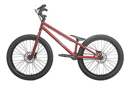 LQH Mountain Bike Trials Extreme Sport-Scheibenbremsen 20 Zoll Außen Sport überspringbare Trickable Street Bike (Color : Red)