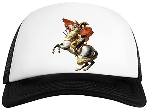 Napoleón En Su Caballo Unisex Gorra De Béisbol Hombre Mujer Blanco Negro Baseball Cap Mens Womens