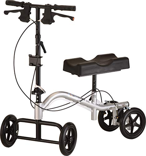 NOVA Knee Scooter, Steerable Knee Scooter, Knee Walker, Crutch Alternative, Metallic Silver Color