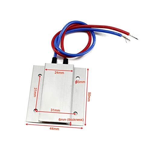 XINYE wuxinye 2 unids Elemento de Calentador PTC termostático 50x44x6mm 12V 60 / 100C Placa DE Calentador PTC Temperatura Constante Elemento de Calentamiento (Wattage : 12V 100C 8 15W)