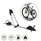 Bike Rack Hitch Roof Mount Aluminum for One Bike Carrier with Anti-Theft Lock Cars Trucks SUV and Minivan   Automotive Exterior Accessories