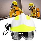 JULYKAI Retenedor de Gafas para Sombrero, Cascos de Seguridad de Rescate de Emergencia Cascos de Seguridad de Rescate de Emergencia Casco Protector antiincendios para Bomberos con Faro y Gafas