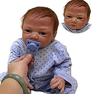 ZIYIUI 22 Inch Ojo Cerrado Muñecos bebé Reborn Niño Silicona Bebe Reborn Babys Dolls Realista Dormir Recién Nacido Niños Regalo Juguetes 55 cm