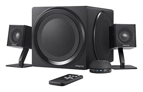Creative T4 - 2.1 Bluetooth-Lautsprechersystem (NFC-Funktion, inkl. Infrarot-Fernbedienung) schwarz