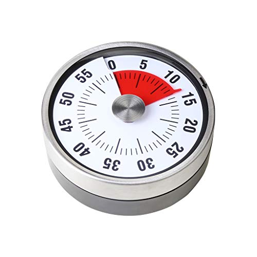 balvi Timer Visual Weiß Farbe Ideal für Jede Aktivität, die Zeitsteuerung erfordert Es hat bis zu 60 Minuten INOX/ABS Plastik 7,8x7,8x3,2 cm