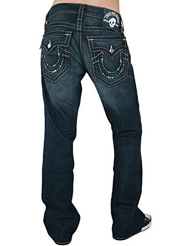 True Religion Hombre Diseñador Jeans Pantalones - Billy Handstitched -