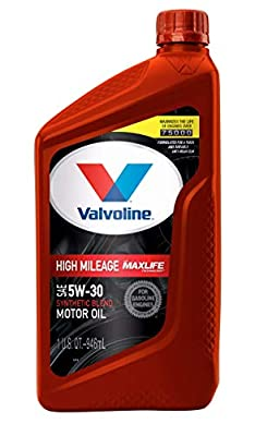 Valvoline High Mileage with MaxLife Technology SAE 5W-30 Synthetic Blend Motor Oil 1 QT