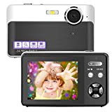 Digital Camera Vlogging Camera 24 Megapixels Mini Digital Camera 2.4 Inch Screen Camera with Digital Zoom Macro Compact Cameras for Adult, Kids, Beginners