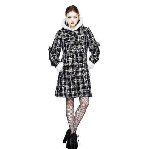 Corte de conejo abrigo corto de mujer Blanco para negro, M