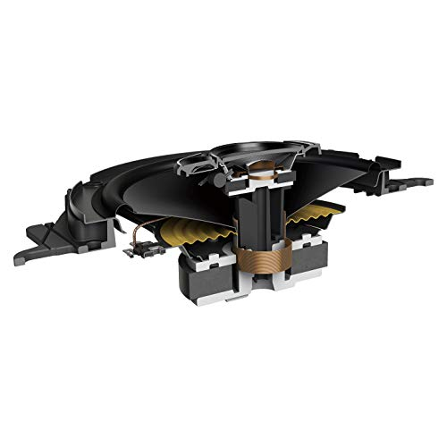 Pioneer TS-A1600C - Altoparlante a 2 componenti per auto (350 W), 16,5 cm, suono potente, membrana IMPP per bassi ottimali, potenza di uscita continua 80 W, colore: Nero