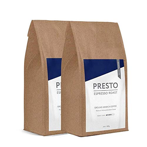 Presto Ground Coffee – Cafè Espresso - Medium Roast Espresso Ground Coffee - 100% Arabica - 1KG