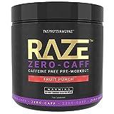The Protein Works Raze Pre-Workout Powder   Zero Caffeine   Fruit Punch 360 g