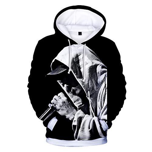 CTOOO 2018 Eminem Impresión Digital 3D Manga Larga Sudaderas con Capucha Suéter Hombres Y Mujeres XXS-XXXL