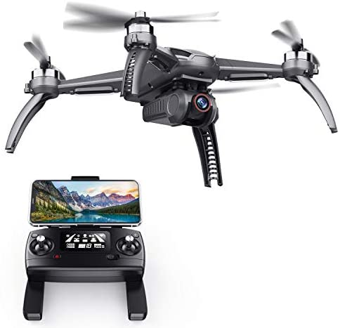 SANROCK B5W GPS Drones with 4K UHD Camera for Adults Kids Beginners, Quadcopter with Brushless Motor, 5GHz FPV Transmission, Auto Return Home, Long Range Control Range