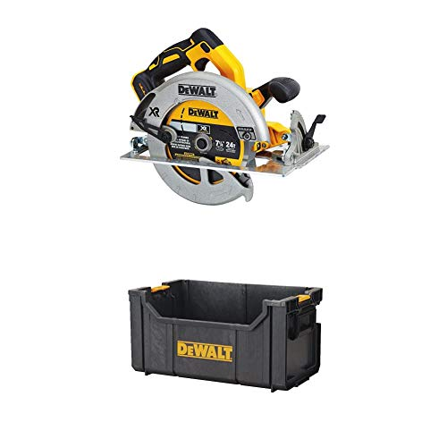 "DEWALT DCS570B 7-1/4"" (184mm) 20V Cordless Circular Saw with Brake (Tool Only) with Dewalt DWST08205 ToughSystem Tote"