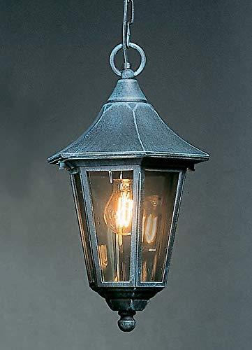 Valencia 1 licht buiten hangende lantaarn afwerking: zwart