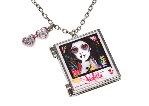 Disney Violetta 117022 - Halskettchen mit Medaglion für Foto auf backercard, 6.5 x 15 cm
