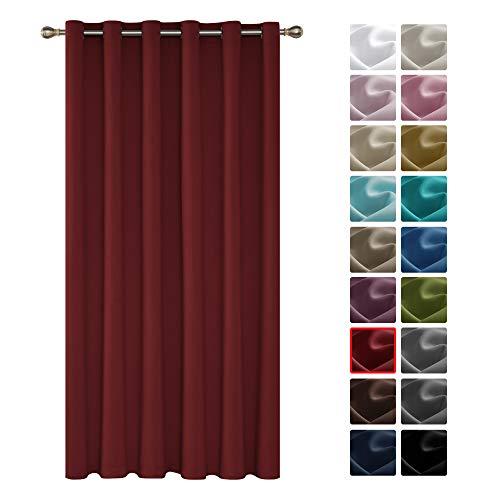 Deconovo Tenda Oscurante Termica Isolante Con Occhielli Per Finestre Soggiorno Interni 200X290Cm Un Pannello Rosso Scuro