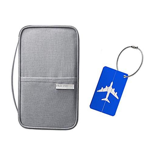 Reisepass - Portadocumenti da viaggio, portatile, colore: grigio