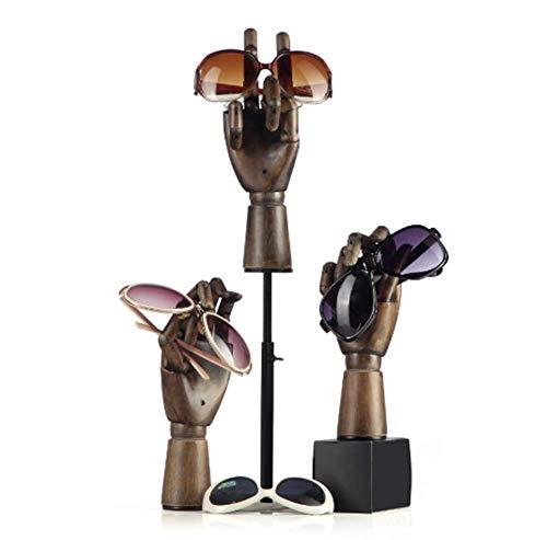 TYPING Madera Articulada Maniquí de Mano Soporte Juntas movibles Joyería Exhibición de Estante de Reloj Modelo de Mano protésica Escaparate de la Tienda,5