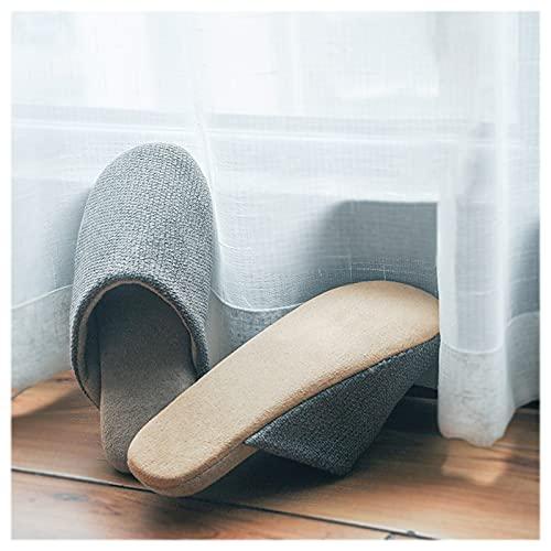Pantuflas para El Hogar Mujeres Y Hombres Memoria Espuma Zapatos De Espuma Suave Lavable Zapatillas De Cálido Plano Puntero Cerrado Ultra Liviano Zapatillas De Interior Silencio Suave Inferior
