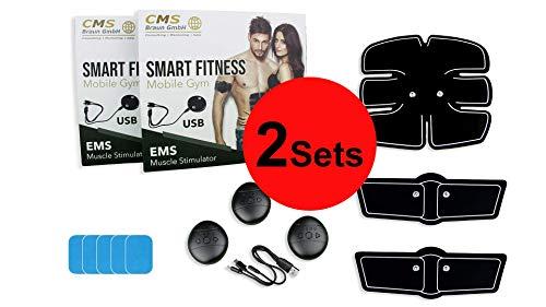 CMS-Braun GmbH 2X Smart Fitness Mobile Gym | EMS Muskelstimulator | Bauchmuskeltrainer für Zuhause | Home-Workout ohne Anstrengung | gesunder Muskelaufbau und Fettreduktion