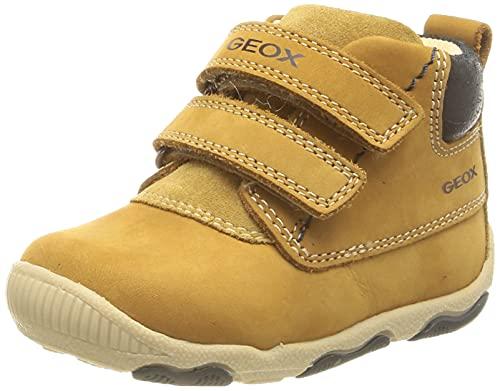 Geox B New Balu' Boy, Ankle Boot Bebé-Niños, Biscuit, 18 EU