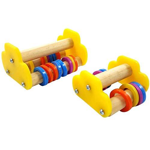AYCPG Pájaro Inteligencia Toys Toys-Mini Roller Patinaje Parrot Loros Juguetes educativos de Madera para pequeños y medianos Loros y Aves lucar (Size : L)