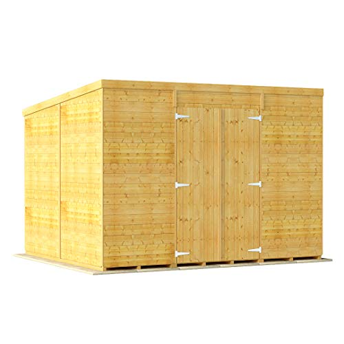 BillyOh Expert Tongue & Groove Wooden Shed, Workshop Shed with Pent Roof (Windowless, 10x8)