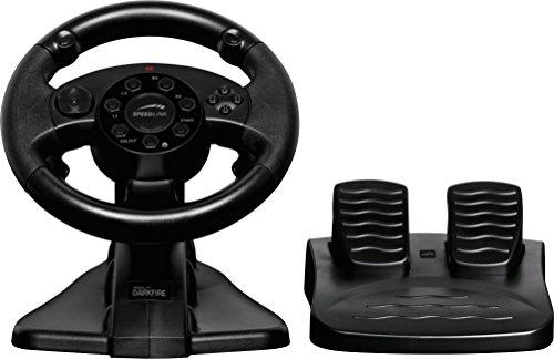 Speedlink DARKFIRE Racing Wheel Lenkrad für PS3-PC, schwarz