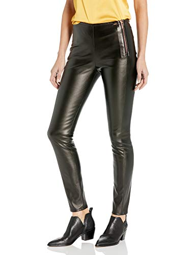 Armani Exchange AX Damen Extra Tight Leggins with Top Zipper Leggings, schwarz metallic, 32