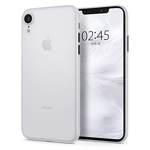 Spigen Air Skin, Kompatibel mit iPhone XR Hülle, 064CS24869 Ultra Dünn Federleicht Handyhülle Matte Schutzhülle Slim Case (Soft Clear)