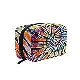 ZZKKO - Bolsa de cosméticos para viaje con compartimentos, bolsa de maquillaje con cremallera para adolescentes y mujeres multicolor 6'x4'x2.5'