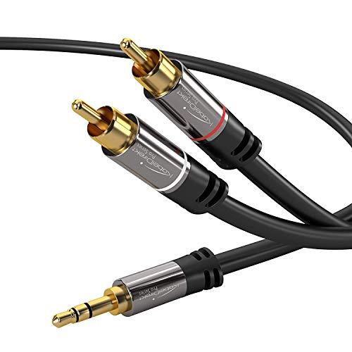 KabelDirekt 1m Cable Jack 3.5mm a RCA