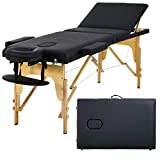 Massage Table Massage Bed Spa Bed 73' Portable Heigh Adjustable 3 Folding Massage Table Salon Bed w/Carry Case