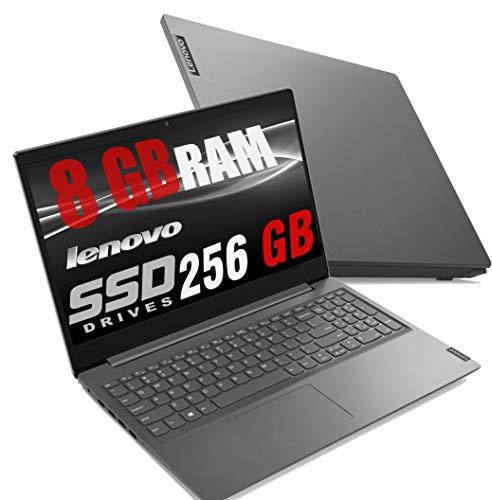 "Notebook Pc Portatile Lenovo Led da 15.6"" Full HD/ Cpu Amd A4 2.30GHz / Ram 8Gb Ddr4 / Ssd 256gb / Grafica Radeon R3 / Hdmi / Wi fi / Bluetooth / Office Open surce / Windows 10 professional"
