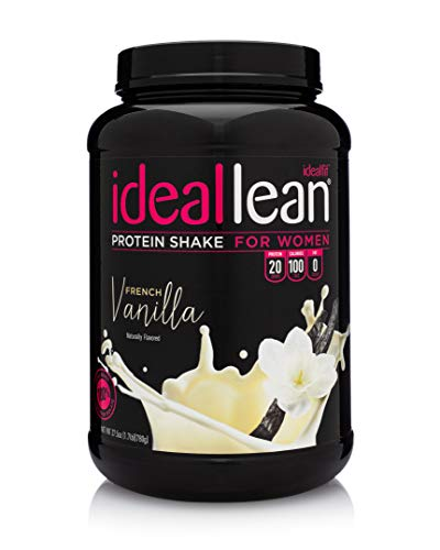 IdealLean - Nutritional Protein Powder for Women | 20g Whey Protein Isolate | Supports Weight Loss | Healthy Low Carb Shakes with Folic Acid & Vitamin D | 30 Servings (French Vanilla)