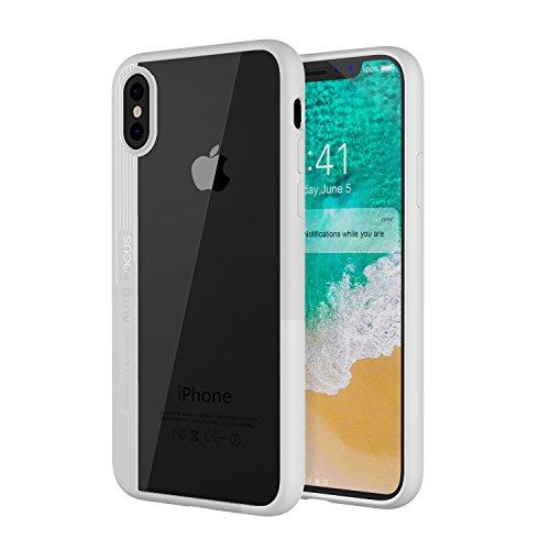 MoKo iPhone X Funda - Delgado TPU Ligero del Gel Parachoques de Amortiguación rígido de la Contraportada Transparente Anti-arañazo Funda Protectora para Apple iPhone X / 10 (2017), Blanco