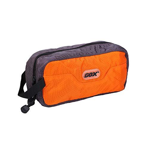 Tumecos 多機能 収納バッグ トラベルポーチ バスルームポーチ 洗面用具 化粧ポーチ コンパクト メイクポーチ 機能的 化粧バッグ オレンジ Large