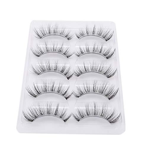 PASDD 5 Pairs 3D Lashes Multipack, False Eyelashes Natural Fluffy Thick Soft Reusable Long Eyelashes for Makeup Eyelashes Extension, Handmade Fake Eye Lashes
