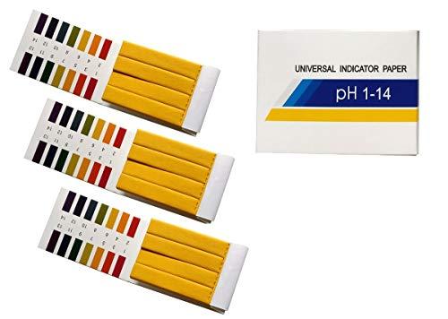 Fontee® 240 tiras tornasol pH de 1 a 14 papel de prueba- Ideal para probar muchas sustancias cotidianas habituales, como zumo de limón, leche, detergente líquido, etc.